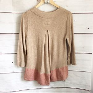 Anthropologie Sweaters - Anthropologie Pullover Color Black Hem Sweater